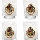 Wizarding World of Harry Potter Set of 4 Hogwarts Double Old Fashioned Glass DOF