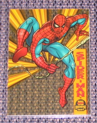 Marvel Universe 1994 (Fleer) Suspended Animation Card #6- Spider-Man NM-M