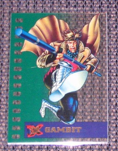 X-Men, 1995 Fleer Ultra Suspended Animation Card #3- Gambit NM