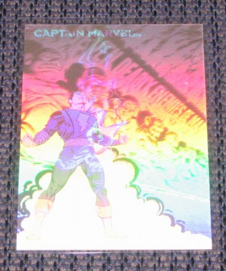 DC Cosmic Teams (SkyBox 1993) Hologram Card DCH11- Captain Marvel VG