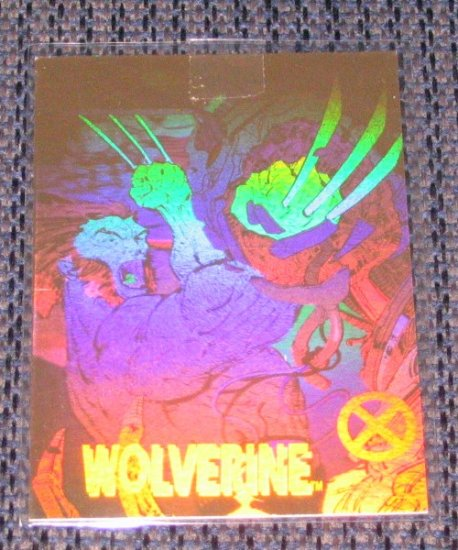 X-Men Series 1 (Impel 1992) Hologram Card XH-1 - Wolverine EX