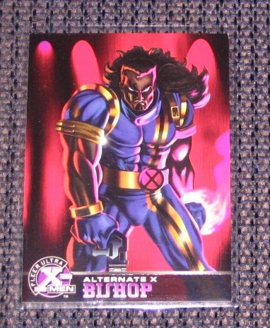 X-Men All Chromium, Fleer Ultra 1995 - Alternate X Embossed Card #3- Bishop VG
