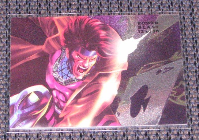 1994 Flair Marvel Universe (Fleer) Power Blast Card #12- Gambit NM