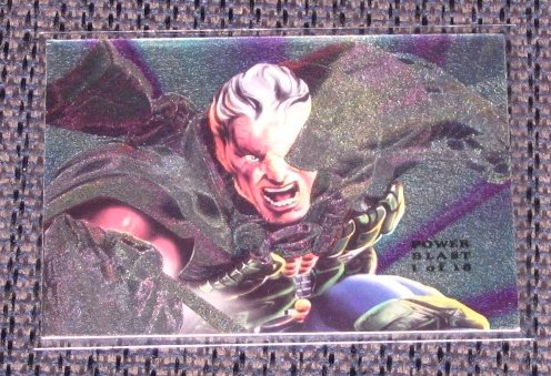 1994 Flair Marvel Universe (Fleer) Power Blast Card #1- Cable EX
