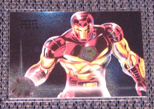 1994 Flair Marvel Universe (Fleer) Power Blast Card #3- Iron Man EX