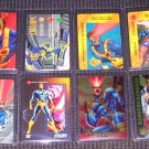 Cyclops Cards- Marvel X-Men Flair Overpower Chromium- Lot of 8 NM-M