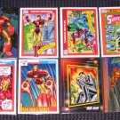 Iron Man Cards- Marvel Flair Universe- Lot of 8 NM-M