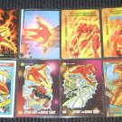 Human Torch Cards- Fantastic Four Marvel Motion Overpower Universe- Lot of 8 NM-M