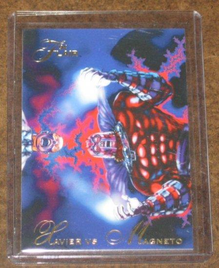 1994 Flair Marvel Universe (Fleer) Card #121- Xavier vs. Magneto NM
