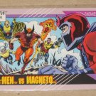 Marvel Universe Series 2 (Impel 1991) Card #125- X-Men vs. Magneto NM