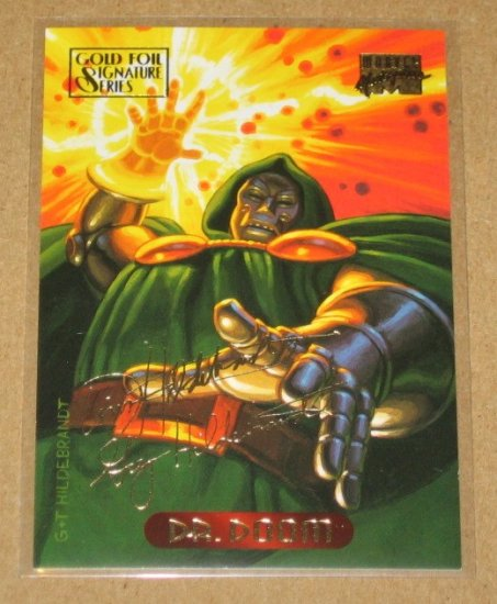 Marvel Masterpieces 1994 (Fleer) Gold-Foil Signature Parallel Card #31- Doctor Doom EX