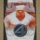 Marvel Masterpieces Set 2 (Upper Deck 2008) Fantastic Four Movie Memorabilia Card FF4- The Thing EX