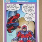Marvel Universe Series 1 (Impel 1990) Card #156- Spider-Man Presents: Magneto EX-MT