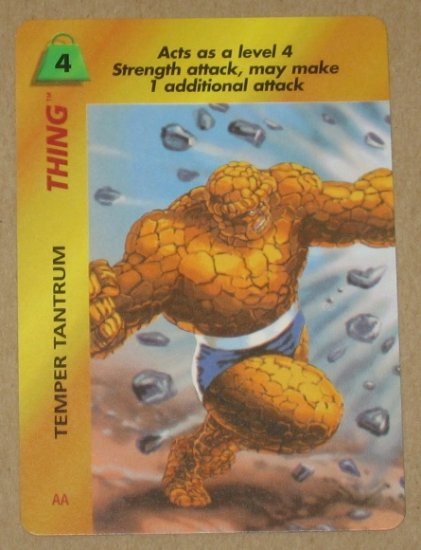 Marvel OverPower (Fleer 1995) - Thing Temper Tantrum EX-MT