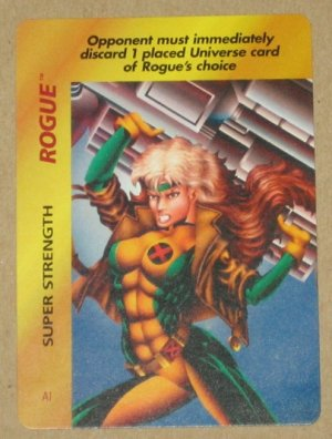 Marvel OverPower (Fleer 1995) - Rogue Super Strength NM