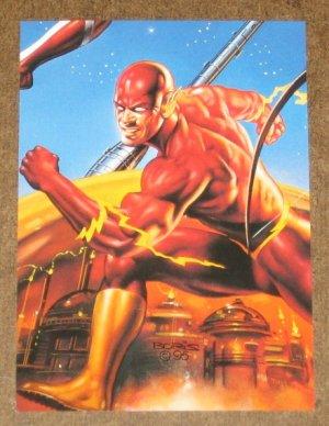 DC versus Marvel (Fleer/SkyBox 1995) Impact Card #8- Flash EX-MT