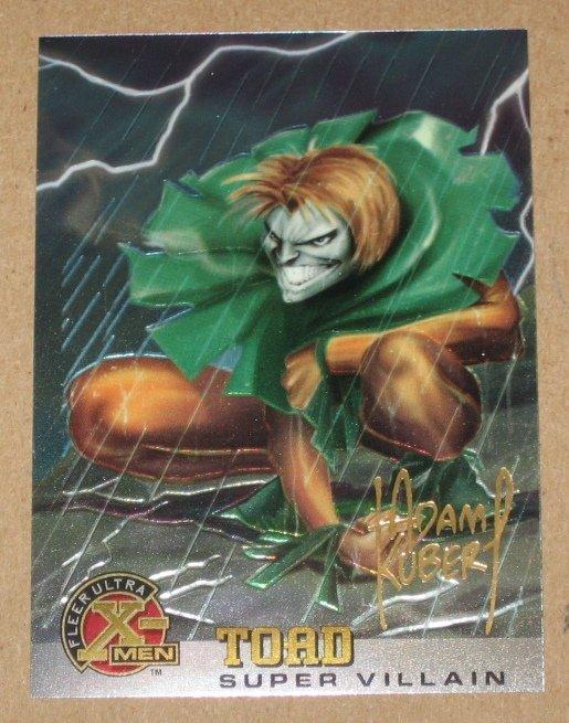 X-Men All Chromium, Fleer Ultra 1995 - Gold-foil Signature Card #79- Toad NM