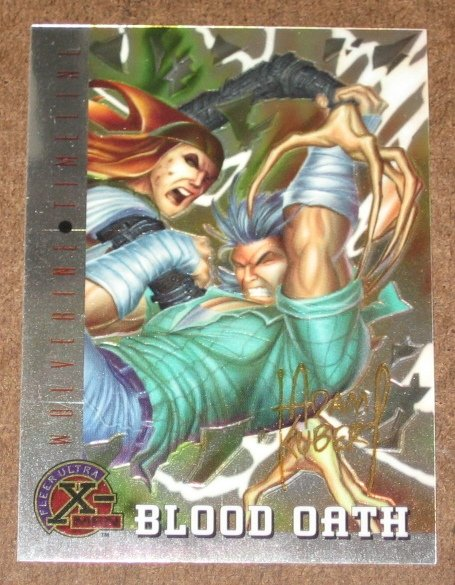 X-Men All Chromium, Fleer Ultra 1995 - Gold-foil Signature Card #87- Blood Oath NM