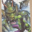 Marvel Heroes and Villains (Rittenhouse 2010) Parallel Card #41- Hulk vs. Fin Fang Foom NM
