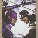 Marvel Heroes and Villains (Rittenhouse 2010) Parallel Card #9- Hawkeye vs. Bullseye EX-MT