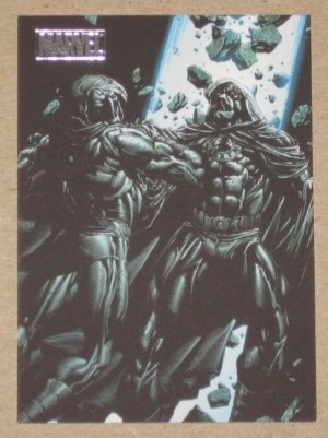Marvel Heroes and Villains (Rittenhouse 2010) Parallel Card #66- Moon Knight vs. Midnight EX-MT