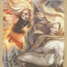 Marvel Heroes and Villains (Rittenhouse 2010) Parallel Card #68- Ms. Marvel vs. Moonstone EX-MT