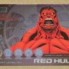 Marvel Heroes and Villains (Rittenhouse 2010) Most Wanted Card M2- Red Hulk EX