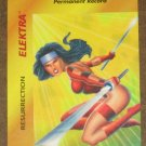 Marvel OverPower (Fleer 1995) - Elektra Resurrection Card NM