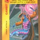Marvel OverPower (Fleer 1995) - Gambit Staff Attack Card NM