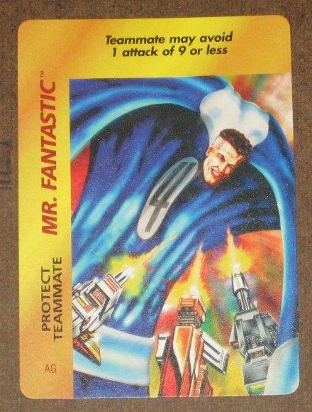 Marvel OverPower (Fleer 1995) - Mr. Fantastic Protect Teammate Card NM