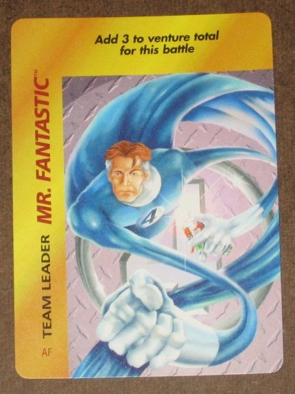 Marvel OverPower (Fleer 1995) - Mr. Fantastic Team Leader Card NM