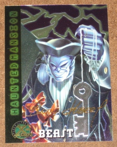 X-Men All Chromium, Fleer Ultra 1995 - Gold-foil Signature Card #90- Beast EX
