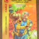 Marvel OverPower (Fleer 1995) - Cable Custom Firearms Card EX-MT