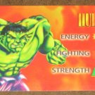 Marvel OverPower (Fleer 1995) - Hulk Hero Card EX-MT