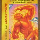 Marvel OverPower (Fleer 1995) - Human Torch Searing Heat Card EX-MT