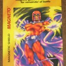 Marvel OverPower (Fleer 1995) - Magneto Magnetic Shield Card EX-MT