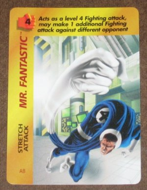 Marvel OverPower (Fleer 1995) - Mr. Fantastic Stretch Attack Card EX-MT