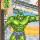 Marvel OverPower (Fleer 1995) - Universe City Bus Hulk Card EX-MT