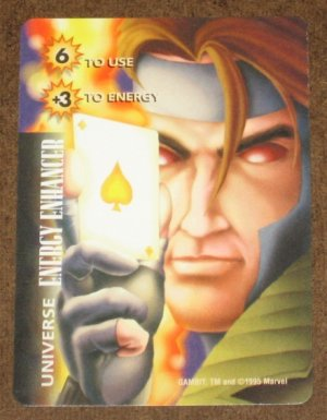 Marvel OverPower (Fleer 1995) - Universe Energy Enhancer Gambit Card EX-MT