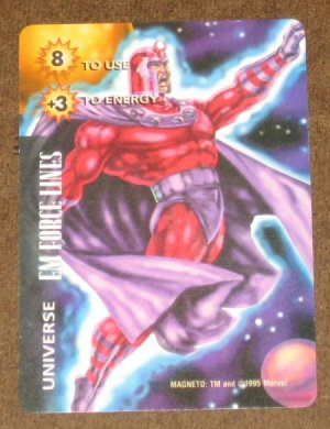 Marvel OverPower (Fleer 1995) - Universe EM Force Lines Magneto Card EX