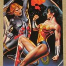 DC versus Marvel (Fleer/SkyBox 1995) Impact Card #5- Wonder Woman & Black Widow EX-MT