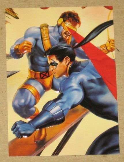 DC versus Marvel (Fleer/SkyBox 1995) Impact Card #14- Cyclops & Nightwing EX-MT