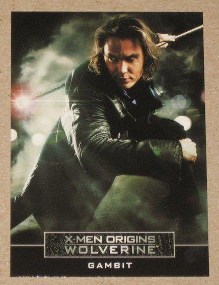 X-Men Origins: Wolverine Movie Casting Call Card C5- Taylor Kitsch as Gambit EX