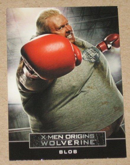 X-Men Origins: Wolverine Movie Casting Call Card C9- Kevin Durand as Blob EX