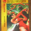 Marvel OverPower (Fleer 1995) - Elektra Ninja Master Card EX