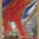 Marvel Metal (Fleer 1995) Metal Blaster Card #6- Human Torch VG