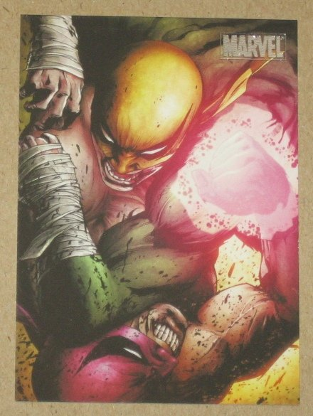Marvel Heroes and Villains (Rittenhouse 2010) Parallel Card #22- Iron Fist vs. Quan Yaozu NM