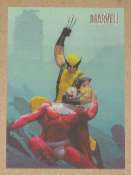 Marvel Heroes and Villains (Rittenhouse 2010) Parallel Card #35- Wolverine vs. Magneto NM
