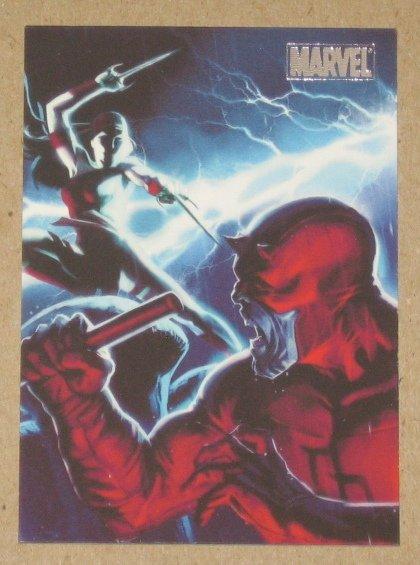 Marvel Heroes and Villains (Rittenhouse 2010) Parallel Card #54- Elektra vs. Skrull Daredevil NM