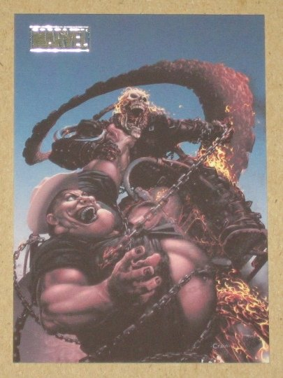 Marvel Heroes and Villains (Rittenhouse 2010) Parallel Card #67- Ghost Rider vs. Hoss NM